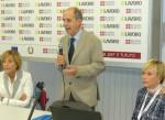 Il sindaco Martano tra gli assessori al lavoro  Pentenero (Regione) e Zopegni (Comune)