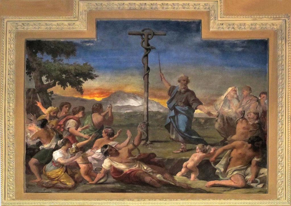 SACCHETTI Giovanni Francesco (?). Il serpente di bronzo (1668-1680)