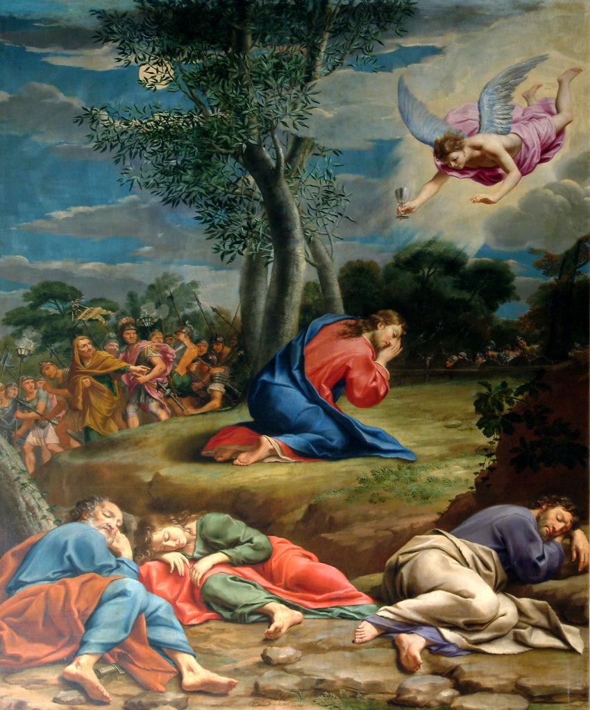 SACCHETTI GIOVANNI FRANCESCO. Agonia di Gesù nell'Orto del Getsemani . (1672)