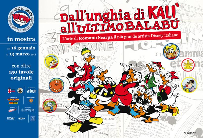 PASSIONE FUMETTI di Giancarlo Vidotto – Disney, l'Arte di Romano Scarpa al Museo Wow di Milano