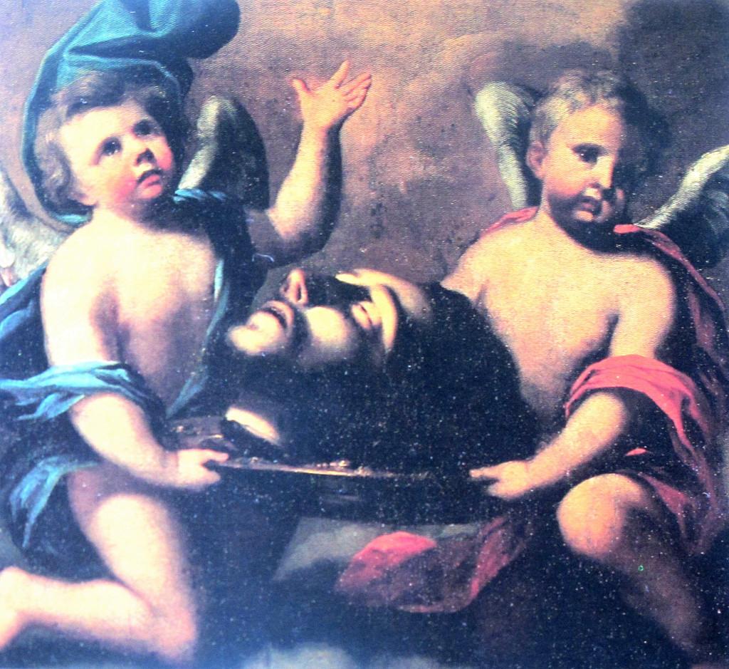 DUFOUR Lorenzo, Il Capo di San Giovanni Battista portato dagli Angeli, (1669).