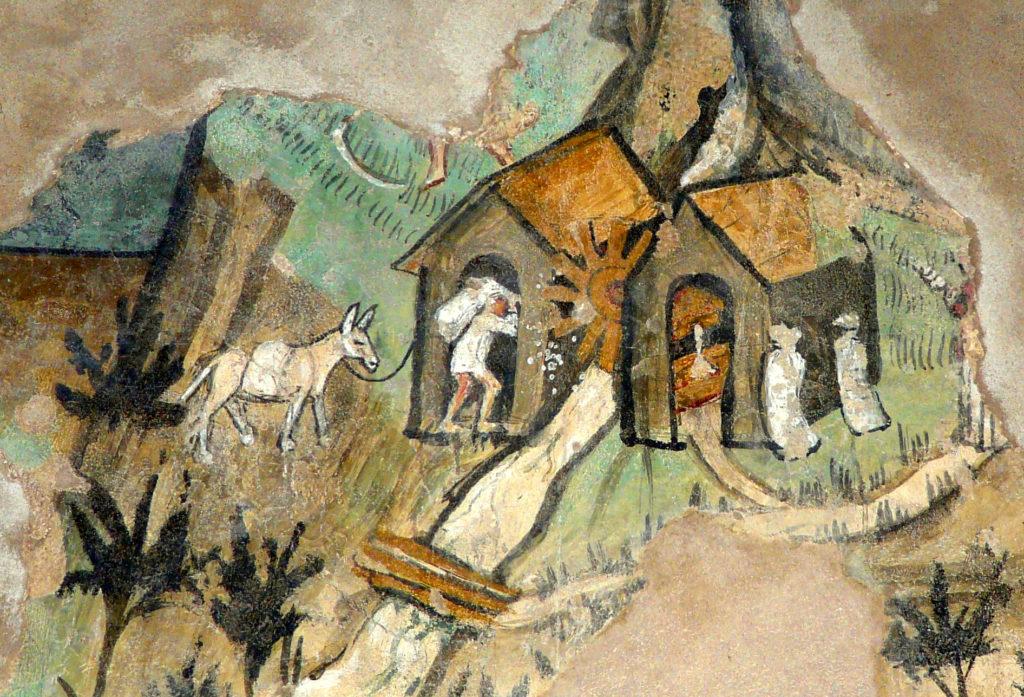 SCUOLA DI GIACOMO JAQUERIO. Scene dell'Infanzia di Cristo (inizio sec. XV)