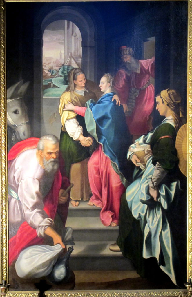 LEVOYER Robert (?). Visitazione di Maria a Santa Elisabetta (1595 ca.)