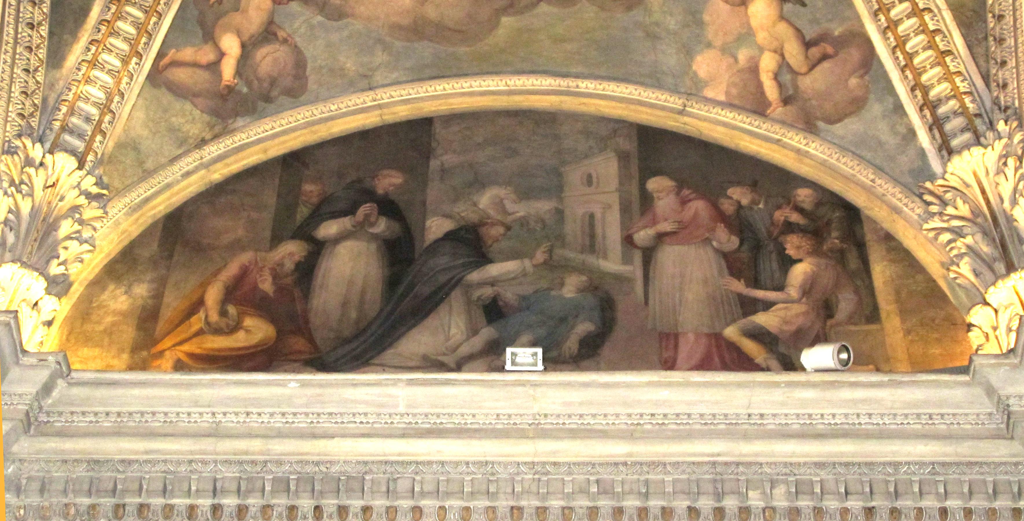 Guglielmo Caccia (Il Moncalvo). San Domenico risuscita Napoleone Orsini (1615 ca.)