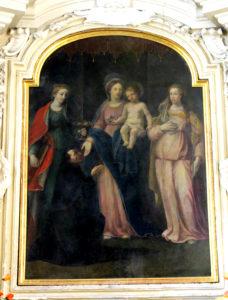 ANONIMO. Madonna col Bambino e le Sante Lucia e Apollonia (1596 ca.)