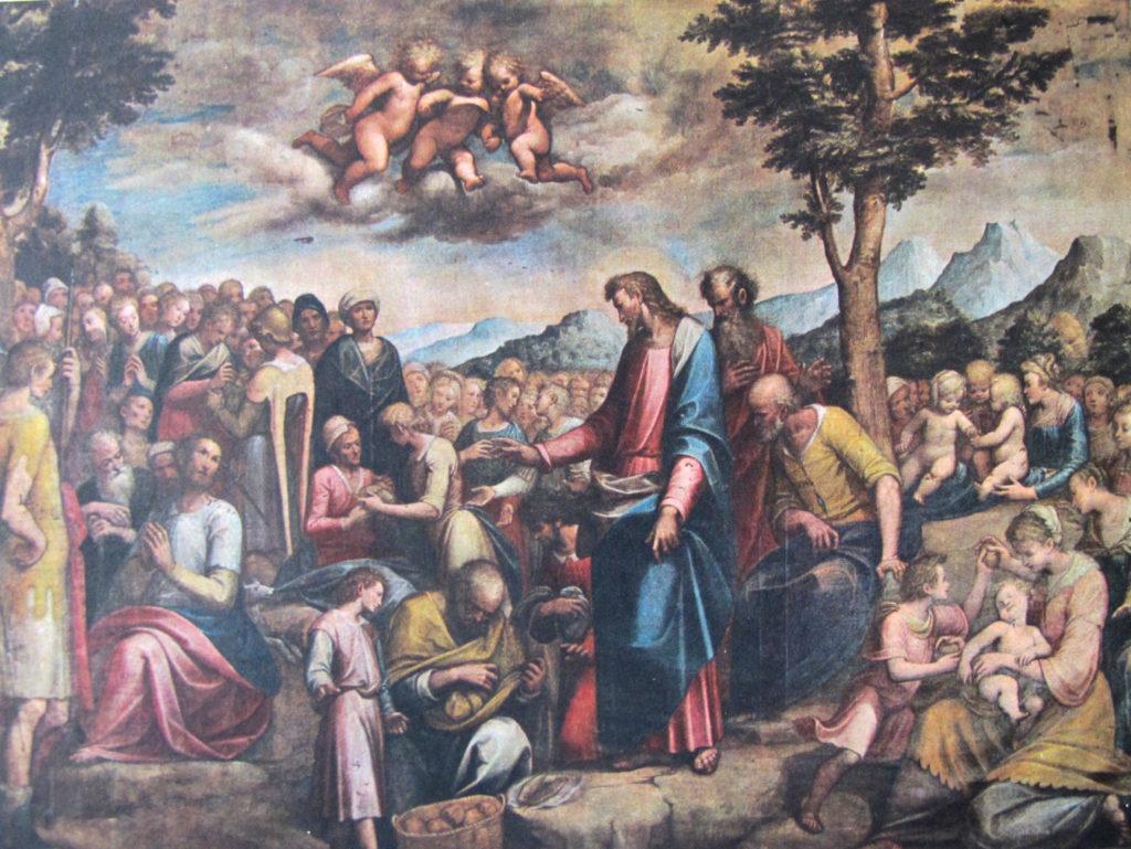 Guglielmo Caccia (il Moncalvo), La Moltiplicazione dei pani e dei pesci (1615 ca.)