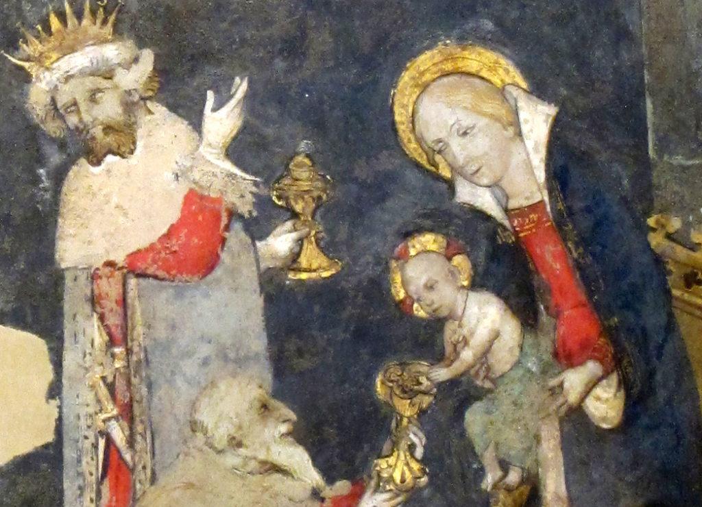 SCUOLA DI GIACOMO JAQUERIO. Scene dell'Infanzia di Cristo (inizio sec. XV) - Re Magi