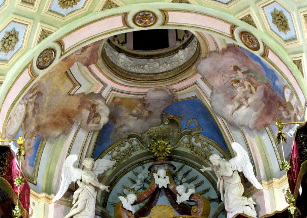 SARIGA Giuseppe. Affreschi della cupola (1760 ca).