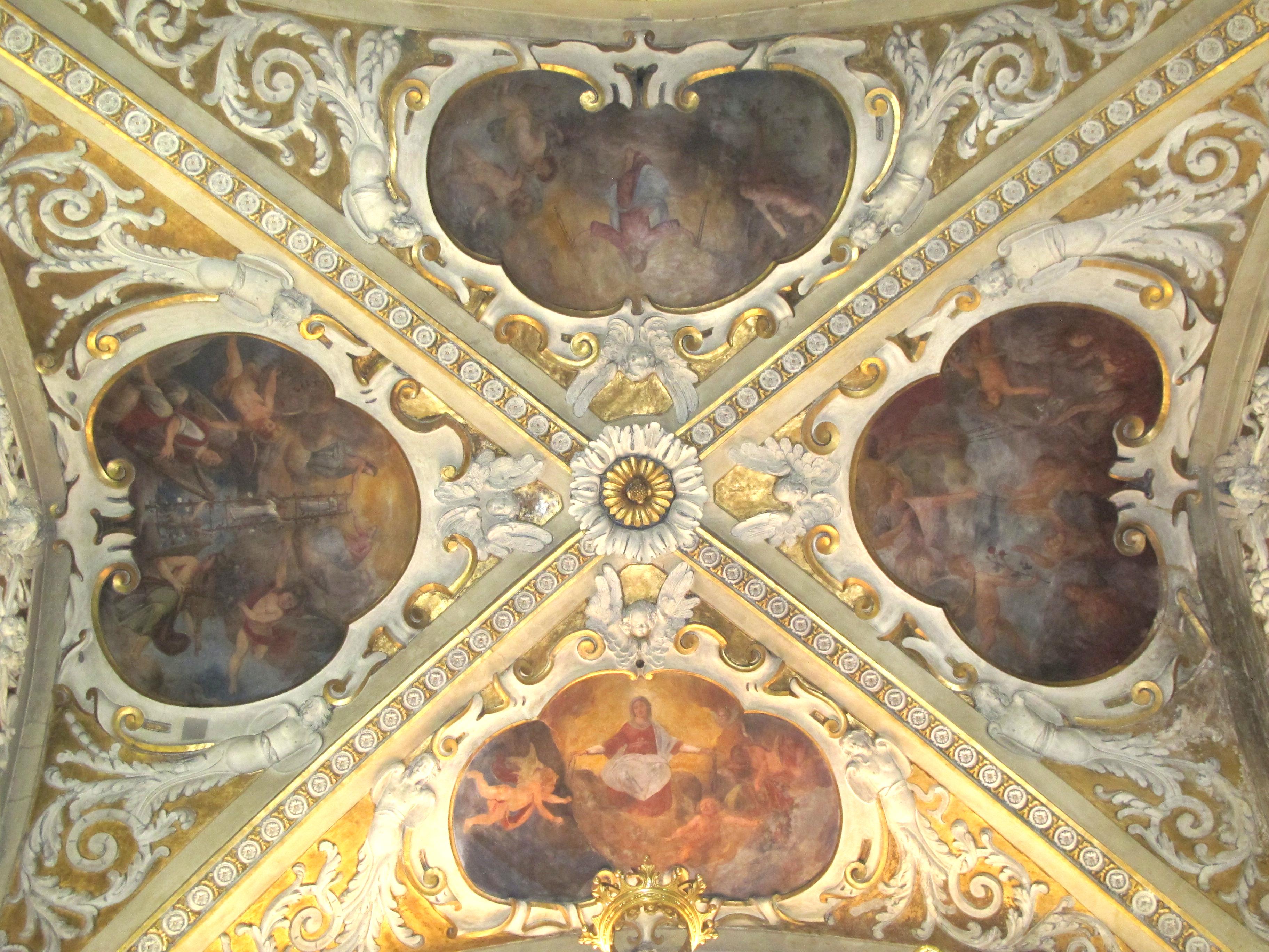 Scuola del Moncalvo, Affreschi della volta (1615 ca.)