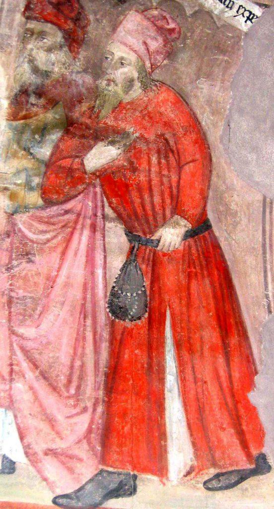 AUTORI ANONIMI. Ciclo di affreschi sulla vita di San Giovanni Battista (inizio sec. XV) - ritratto di Guglielmo Gallieri