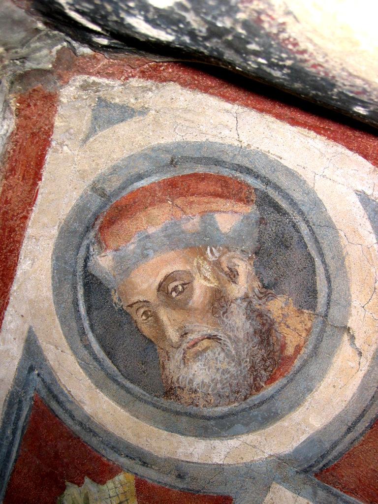AUTORI ANONIMI. Ciclo di affreschi sulla vita di San Giovanni Battista (inizio sec. XV)- Particolare