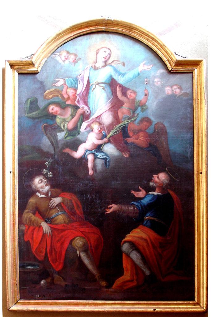 CUCCO Giovanni Battista, Santa Lucia e due Santi (1756)