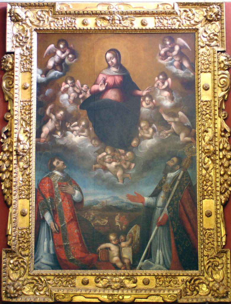 FEA Francesco, La Beata Vergine e i Santi Lorenzo e Martino (1622)