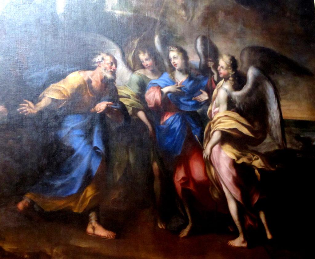 MARI Giovanni Antonio. Abramo e i tre Angeli (1690 ca).