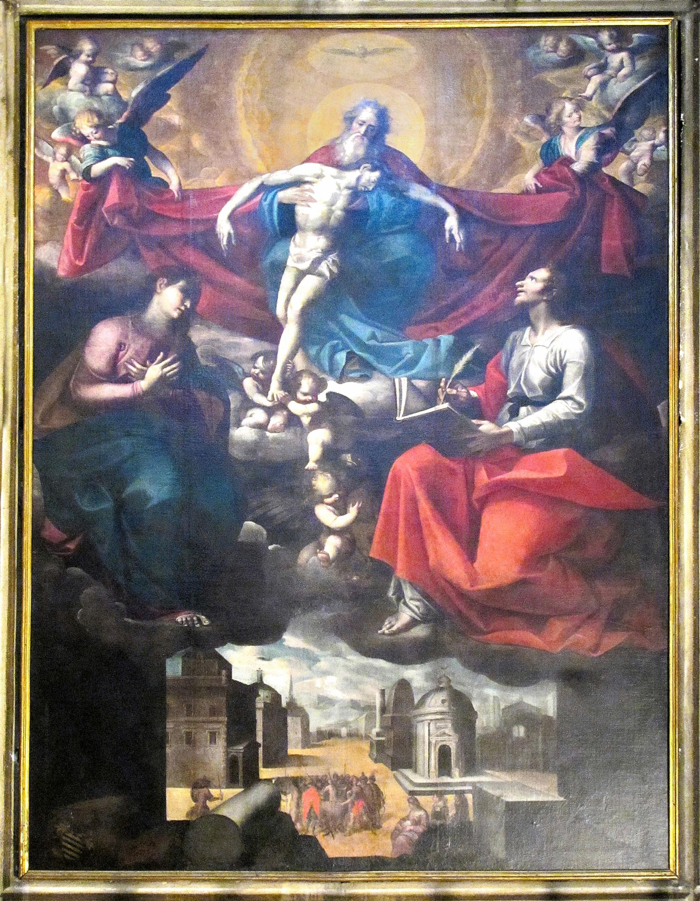 CROSIO Giovanni. Pala della B. V. Maria e di San Giovanni Evangelista (1622)