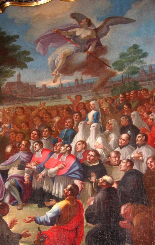 SARIGA Giuseppe. Il voto e la fine della peste. (1760 ca).