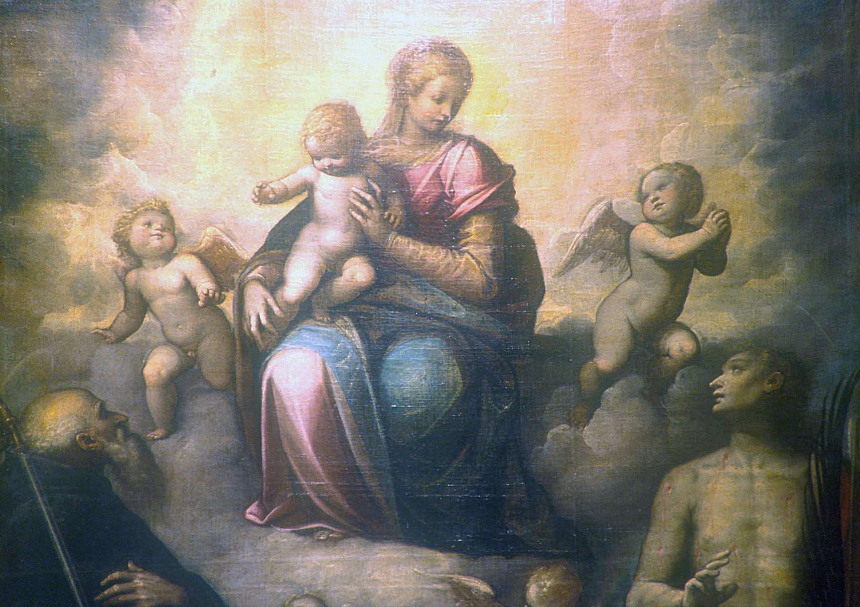 CACCIA Guglielmo (detto Il Moncalvo), Madonna col Bambino e i Santi Antonio e Sebastiano (1615 ca.)