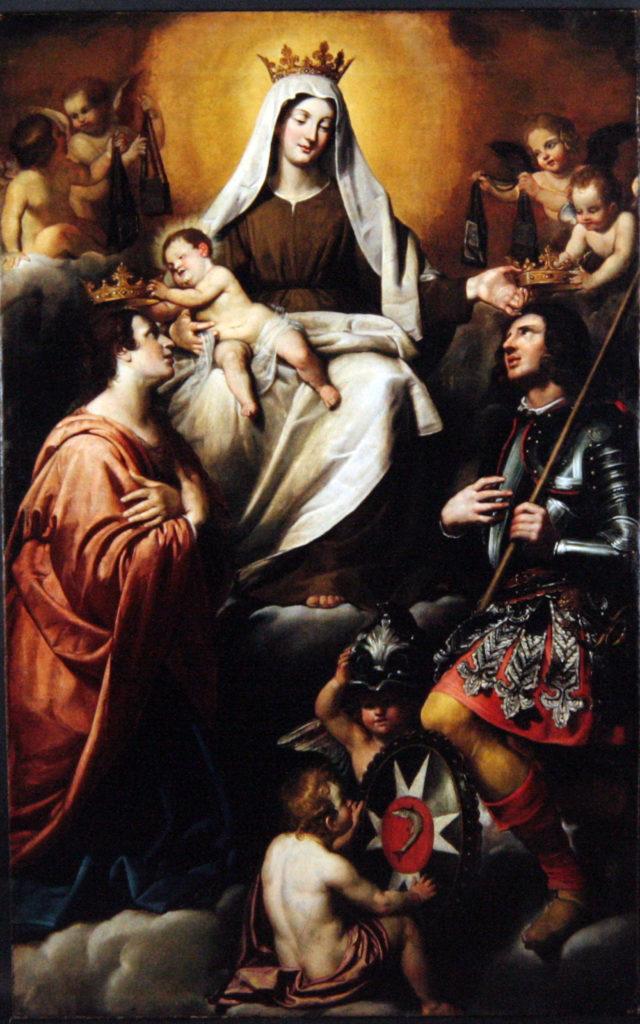 CARLONE Giovanni Battista (?). FIASELLA Domenico (?). Madonna del Carmine e i Santi Giuliano e Basilissa. (1644 ca.)