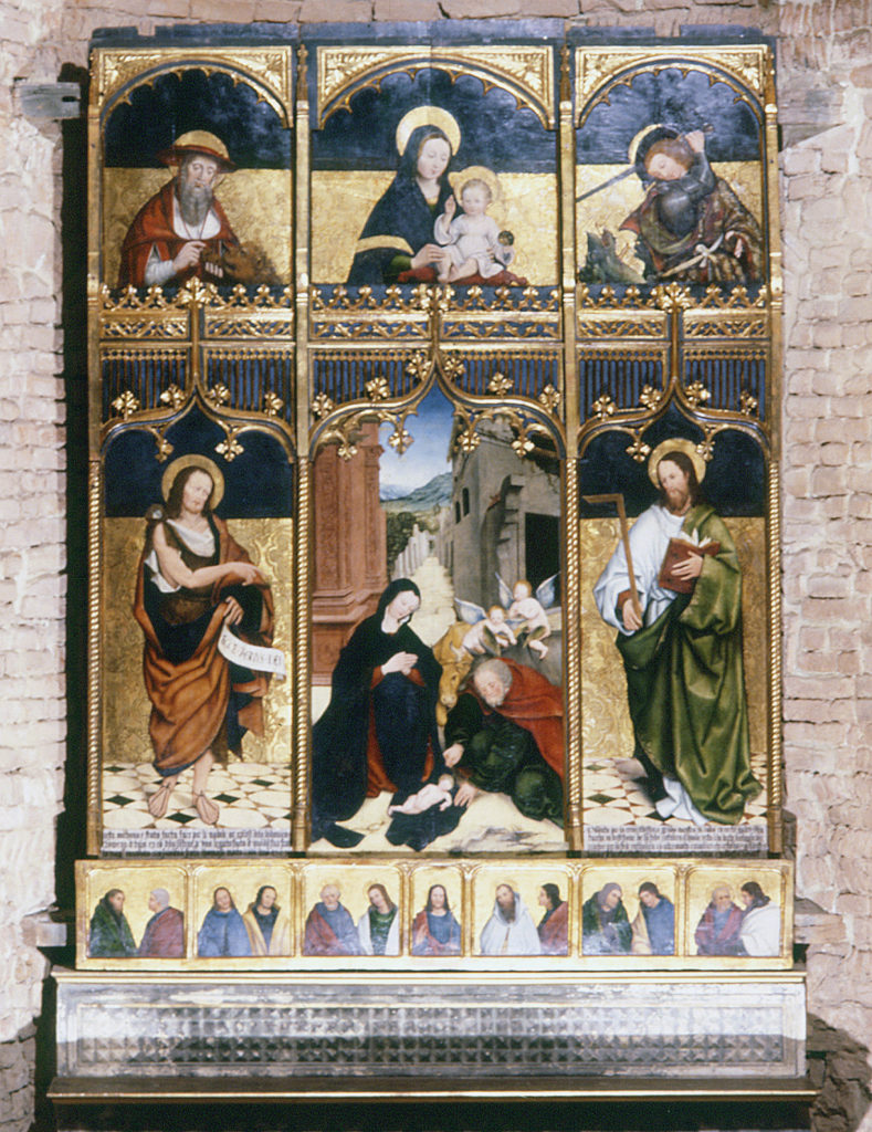 DAVERS Gomar – BERGLANDI Francesco . La pala Tana (1503)
