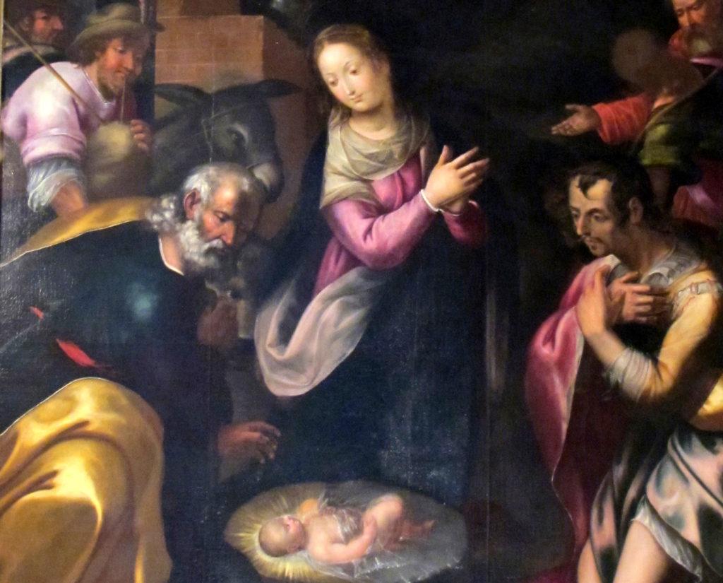 ANONIMO. Adorazione dei pastori (fine sec. XVI)