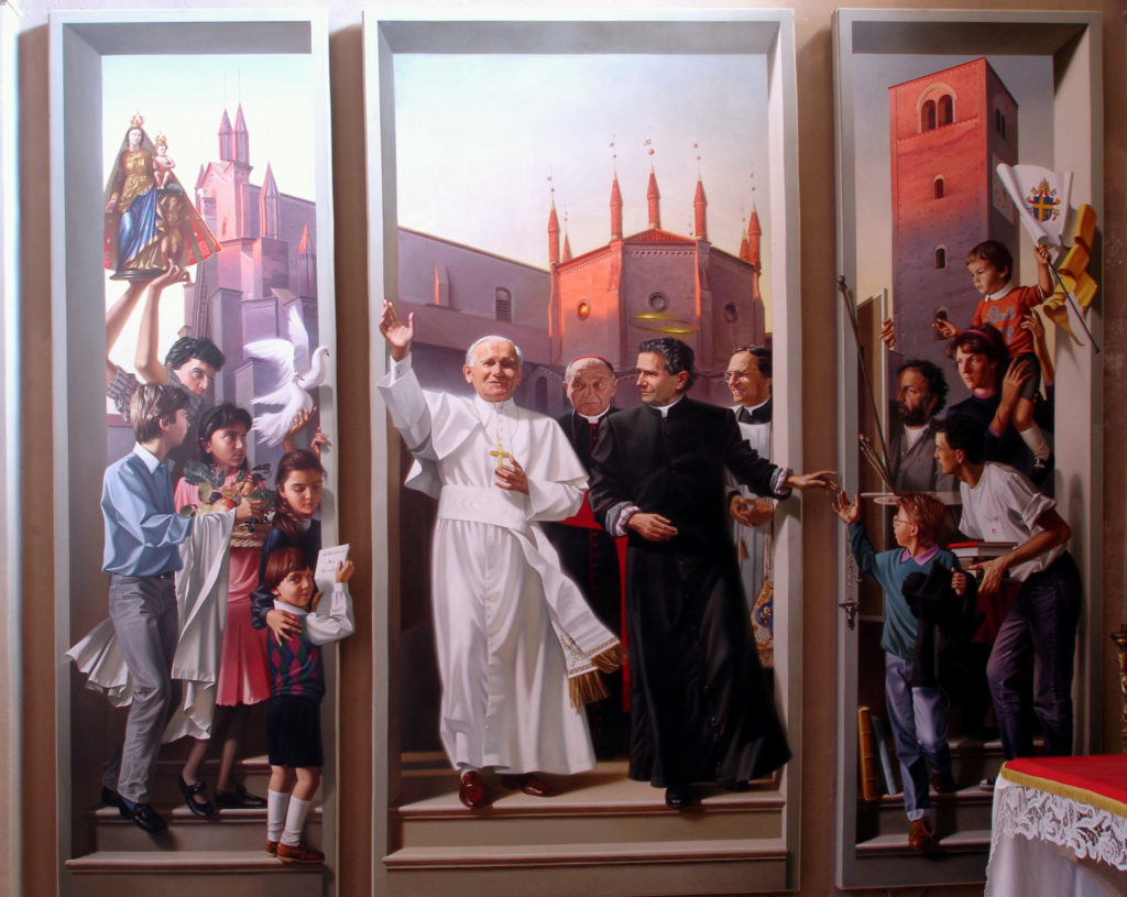 BENEDICENTI Luigi, Il papa San Giovanni Paolo II in visita a Chieri. (1989).