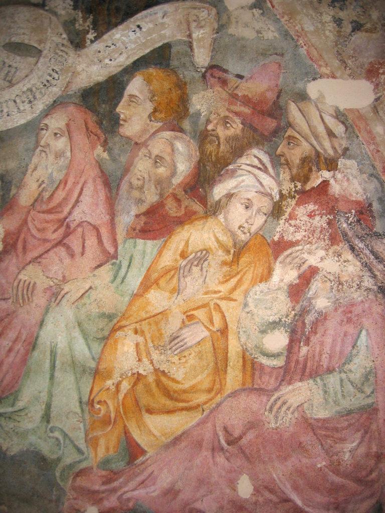AUTORI ANONIMI. Ciclo di affreschi sulla vita di San Giovanni Battista (inizio sec. XV) - particolare