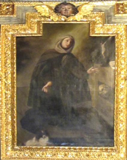 CANTORI Maddalena (?). PELLERI Lorenzo (?). Pala di Santa Margherita da Cortona (1730 ca.)