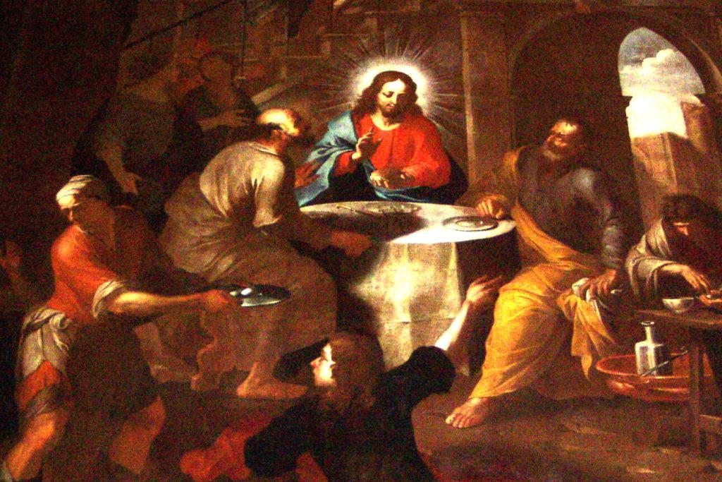 TARICCO Sebastiano. La Cena di Emmaus (1690 ca).