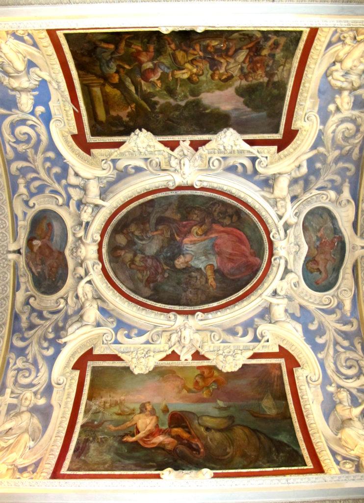 ANONIMO. Affreschi della volta. Scene bibliche (1652)