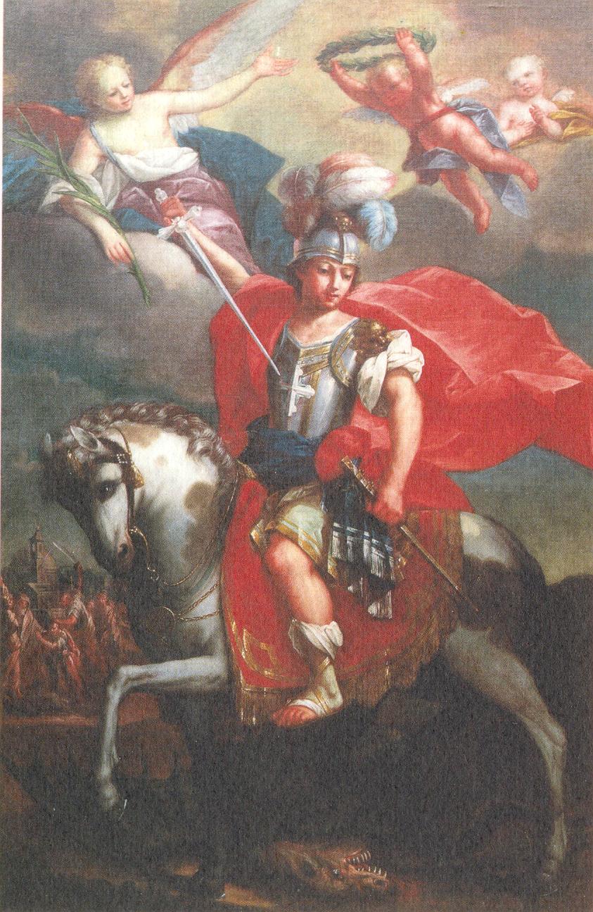 MARCHISIO AGOSTINO, San Giorgio a cavallo (metà del sec. XVIII ca.)