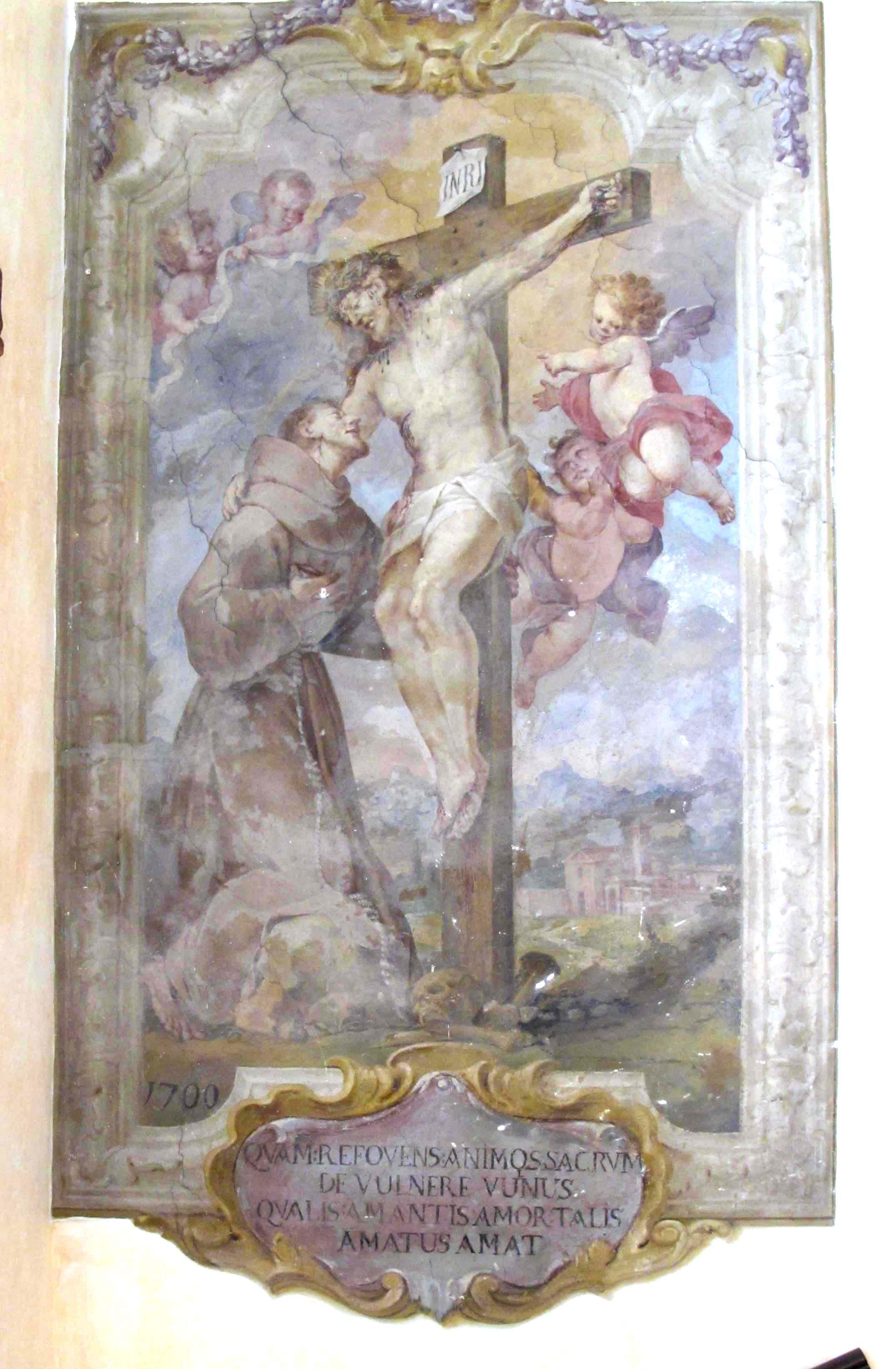 ANONIMO, Il Crocifisso e San Francesco (1700)