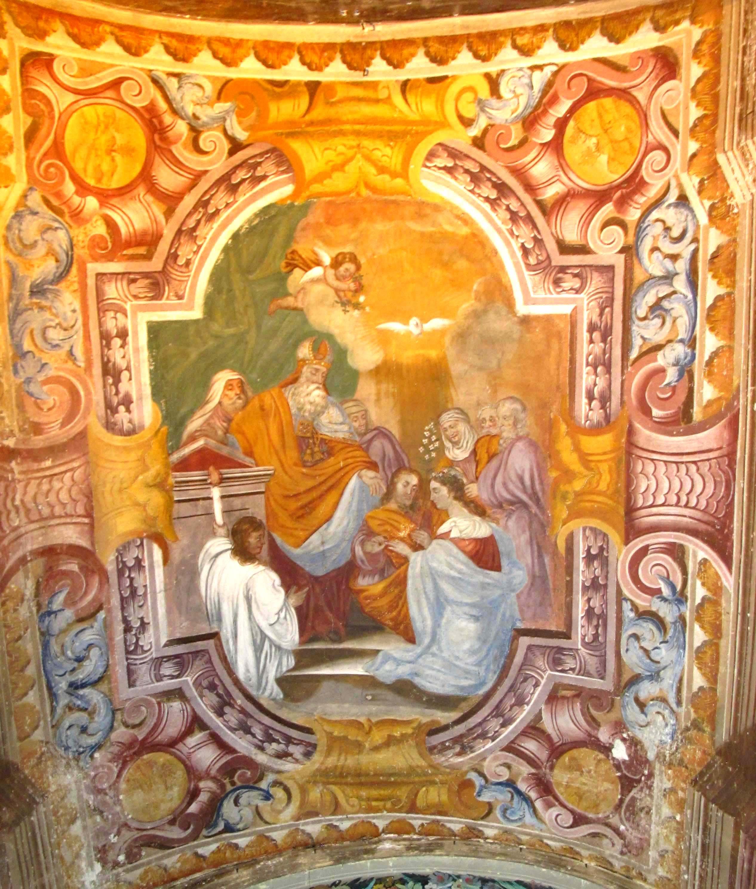 ANTONIO ANDRIETTO (attr.), Sposalizio di Maria. V. e S. Giuseppe (seconda metà del sec. XVII)