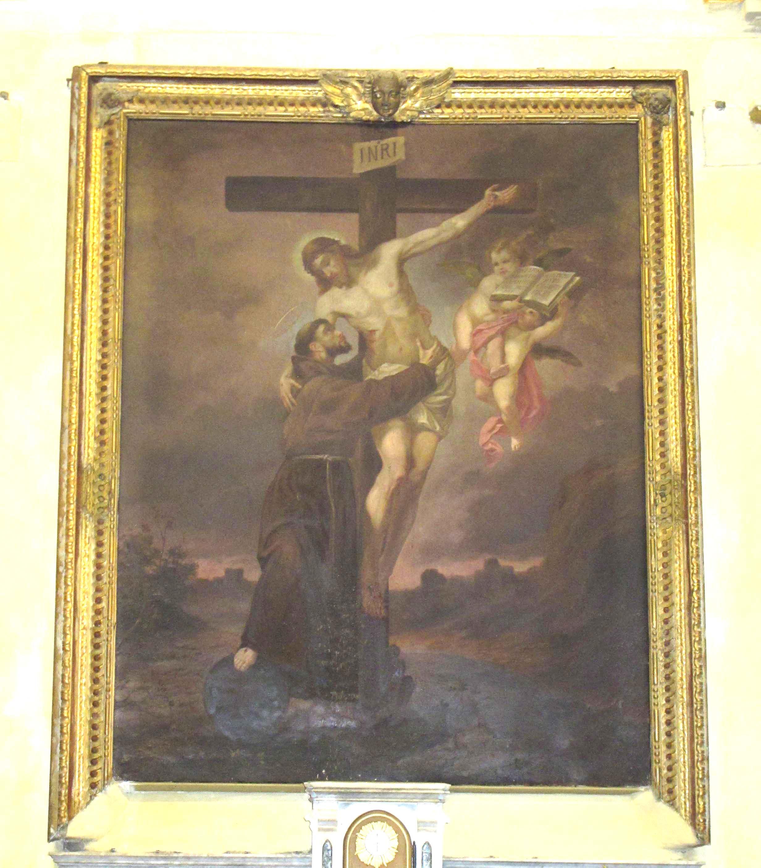 ANONIMO, Il Crocifisso e San Francesco, (inizio Novecento)