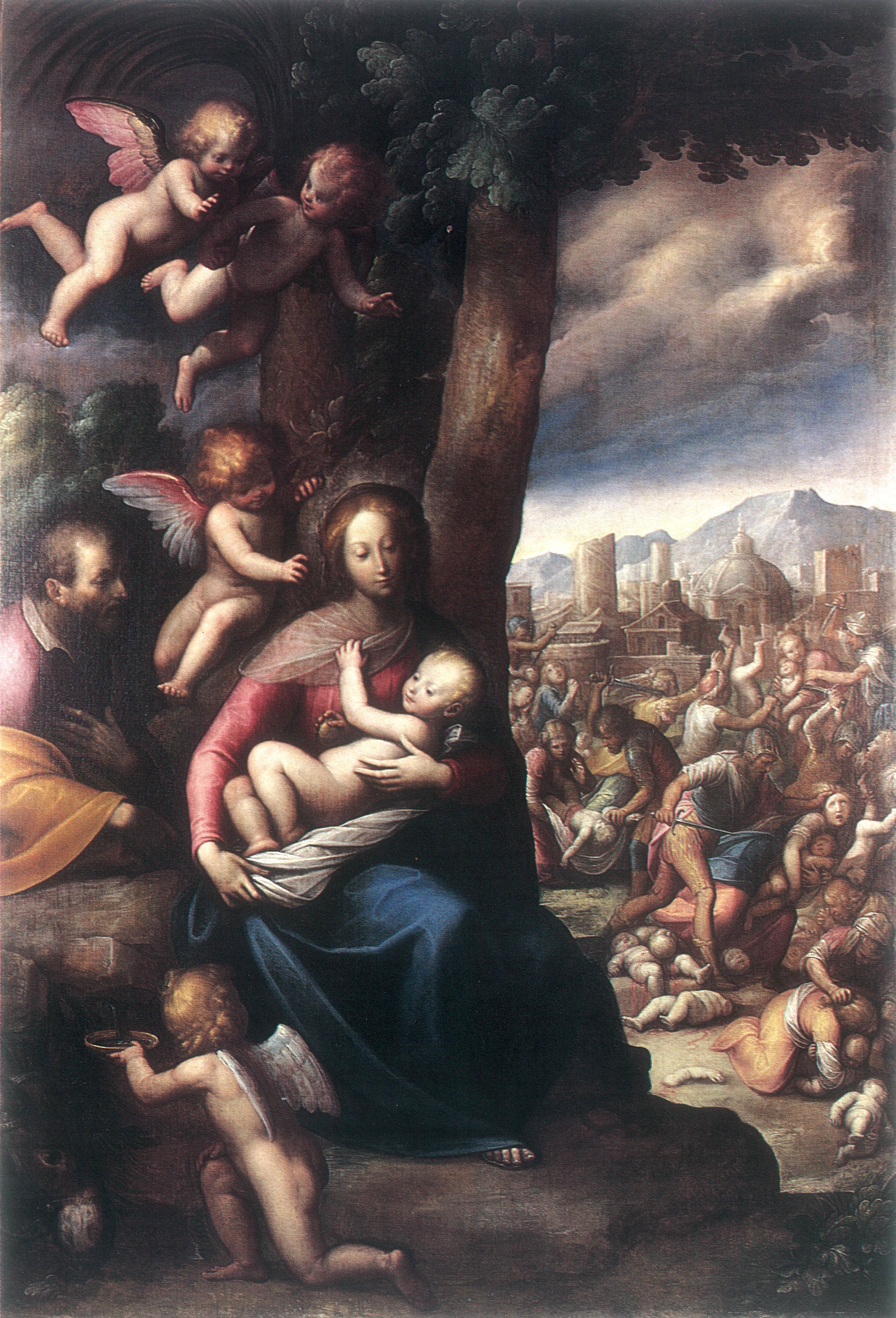 CACCIA ORSOLA MADDALENA, Sacra Famiglia e Strage degli Innocenti (1630 ca.)
