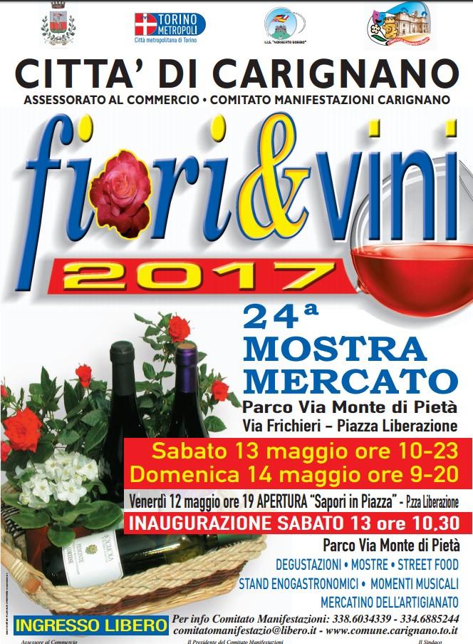 Fiori 24 Ore Torino.Carignano Il 13 E 14 Maggio La 24 Mostra Mercato Fiori Vini