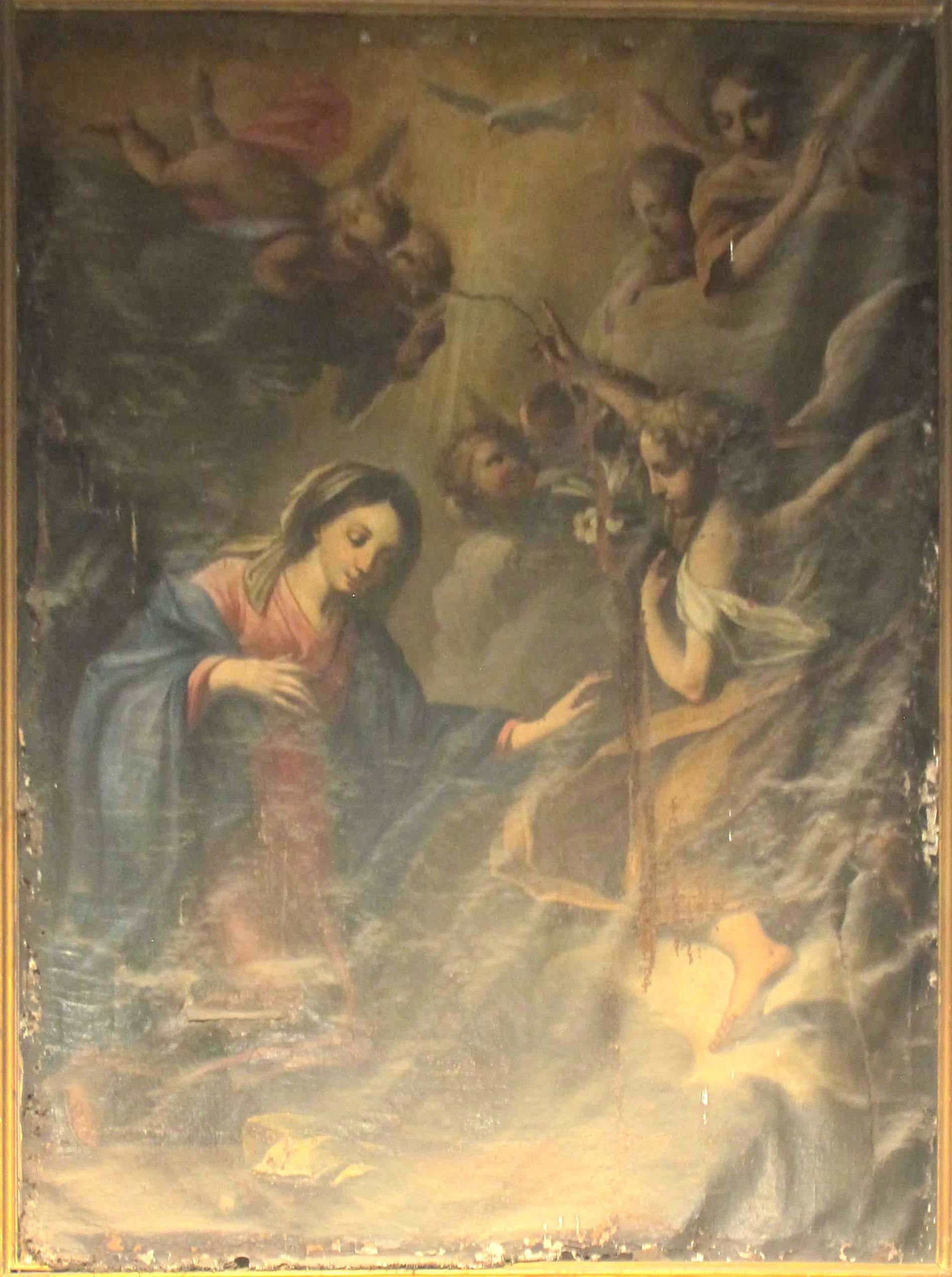 IGNOTO PITTORE LOMBARDO - PIEMONTESE, Annunciazione, (inizio XVII sec.)