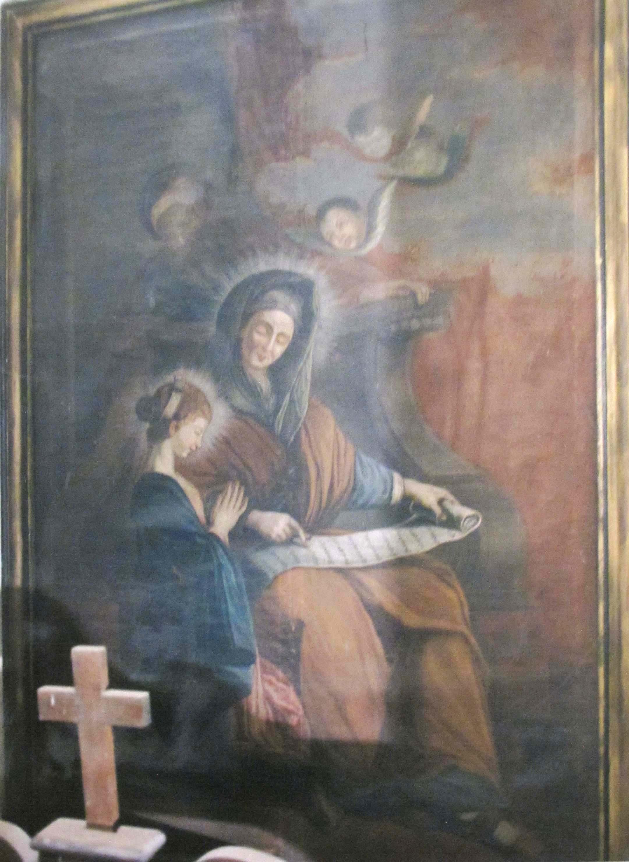 AUTORE IGNOTO, Sant'Anna e Maria Bambina (inizio sec. XIX)