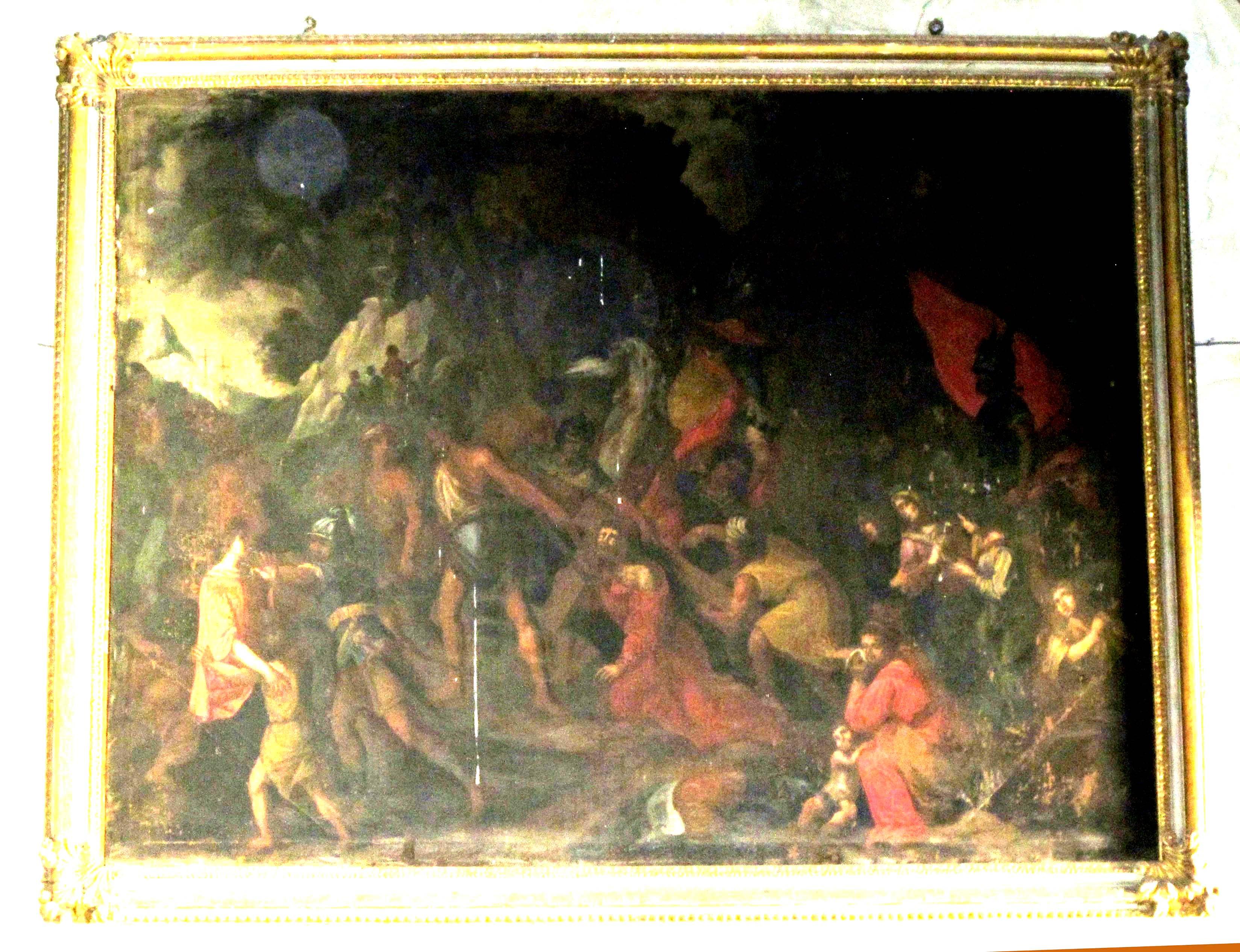 IGNOTO PITTORE ROMANO, Salita di Gesù al Calvario (sec. XVII)