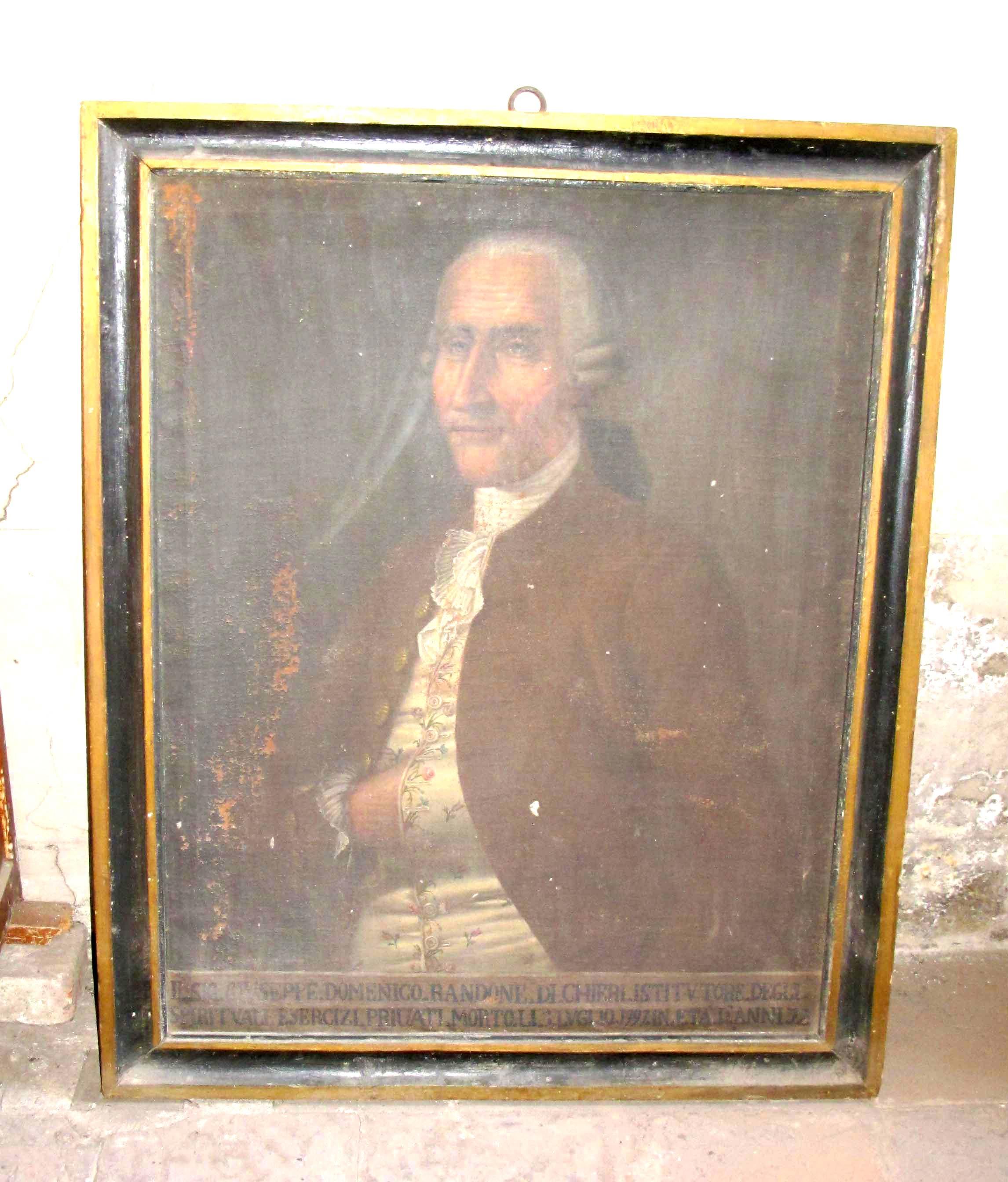 IGNOTO PITTORE PIEMONTESE, Ritratto di Giuseppe Domenico Randone (fine sec. XVIII, dopo il 1797).