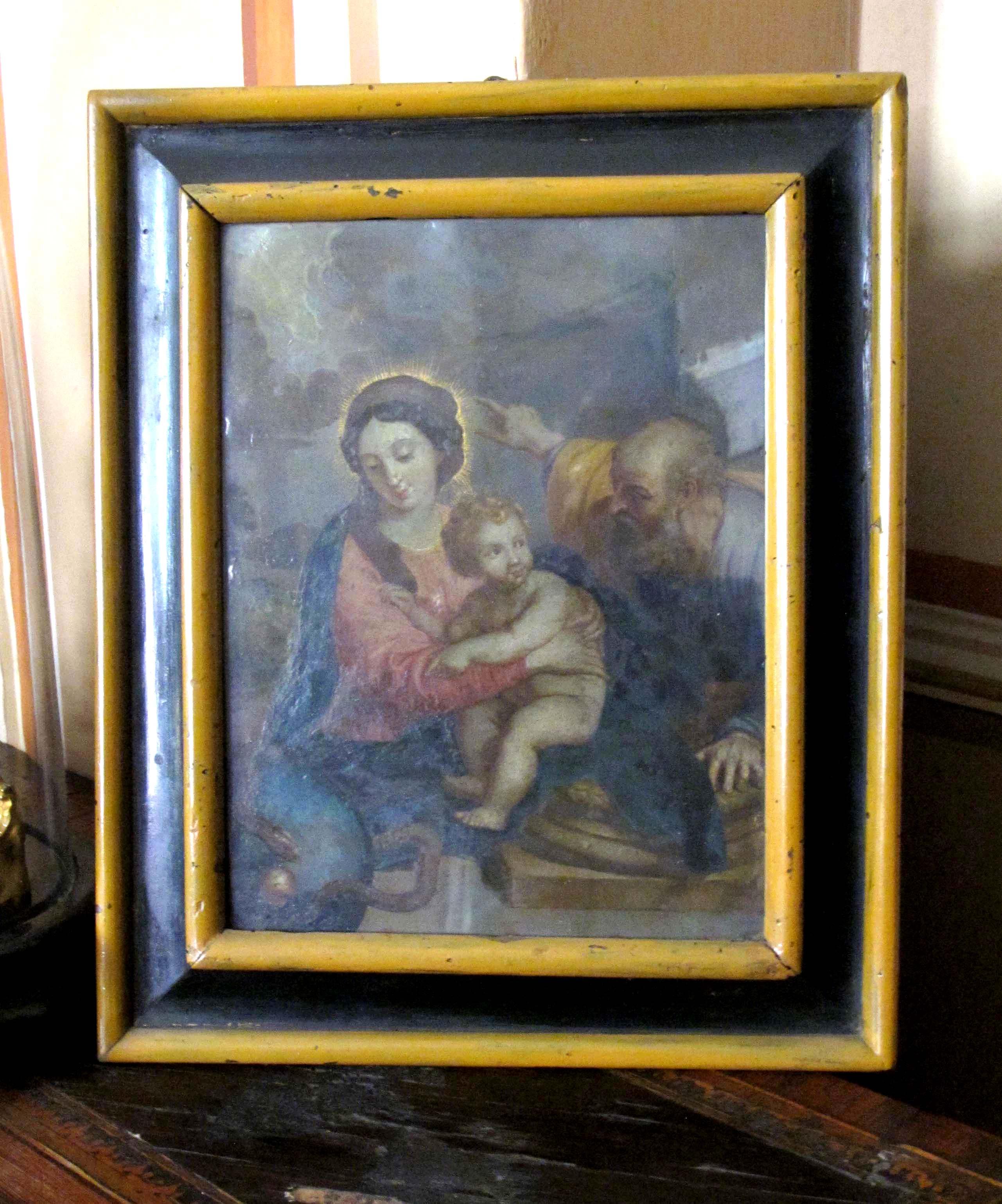 IGNOTO AUTORE FIAMMINGO, Sacra Famiglia (seconda metà del sec. XVII)