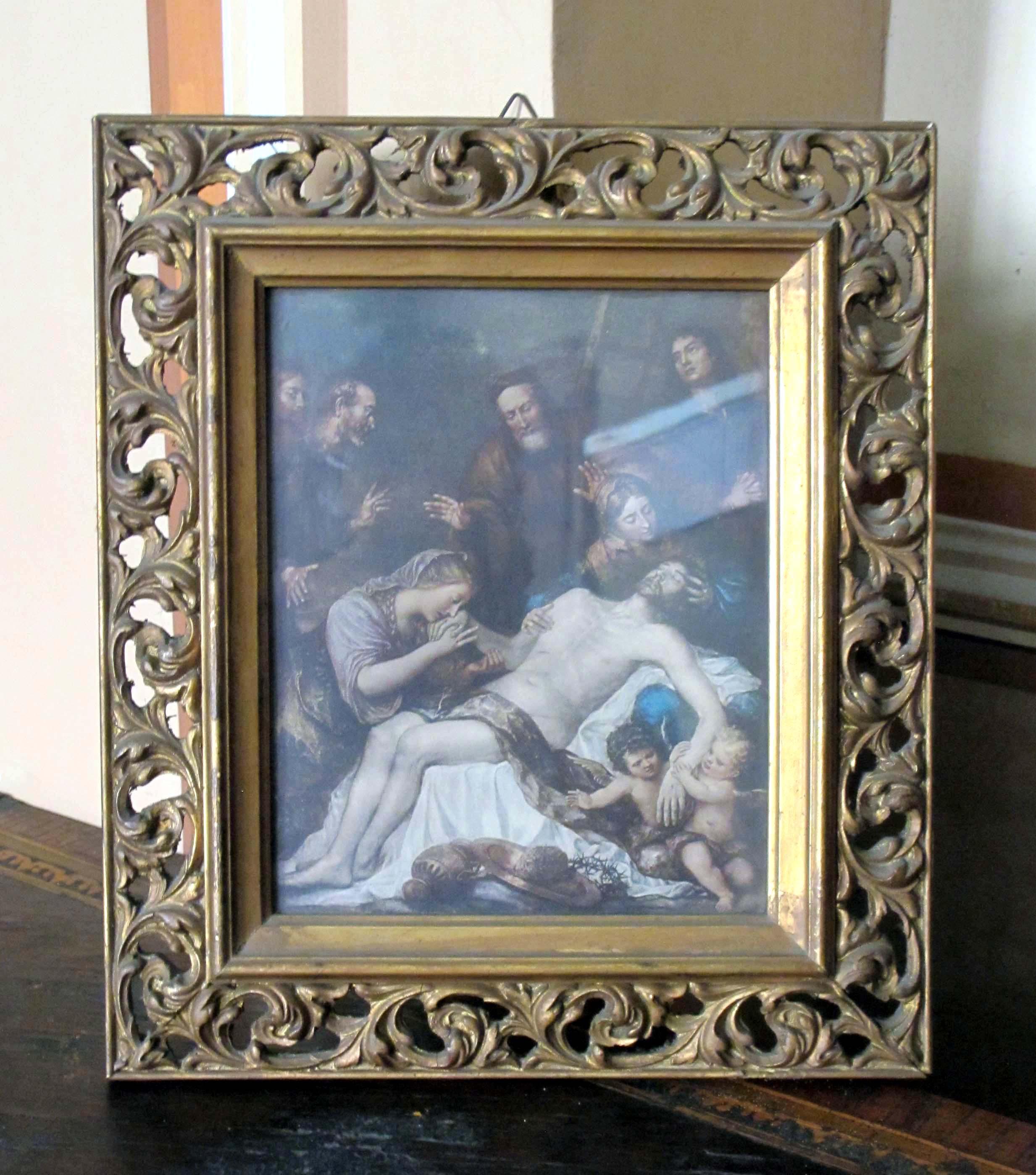 IGNOTO PITTORE VENETO, Compianto sul Cristo deposto dalla croce, (fine secolo XVII-inizio sec. XVIII).