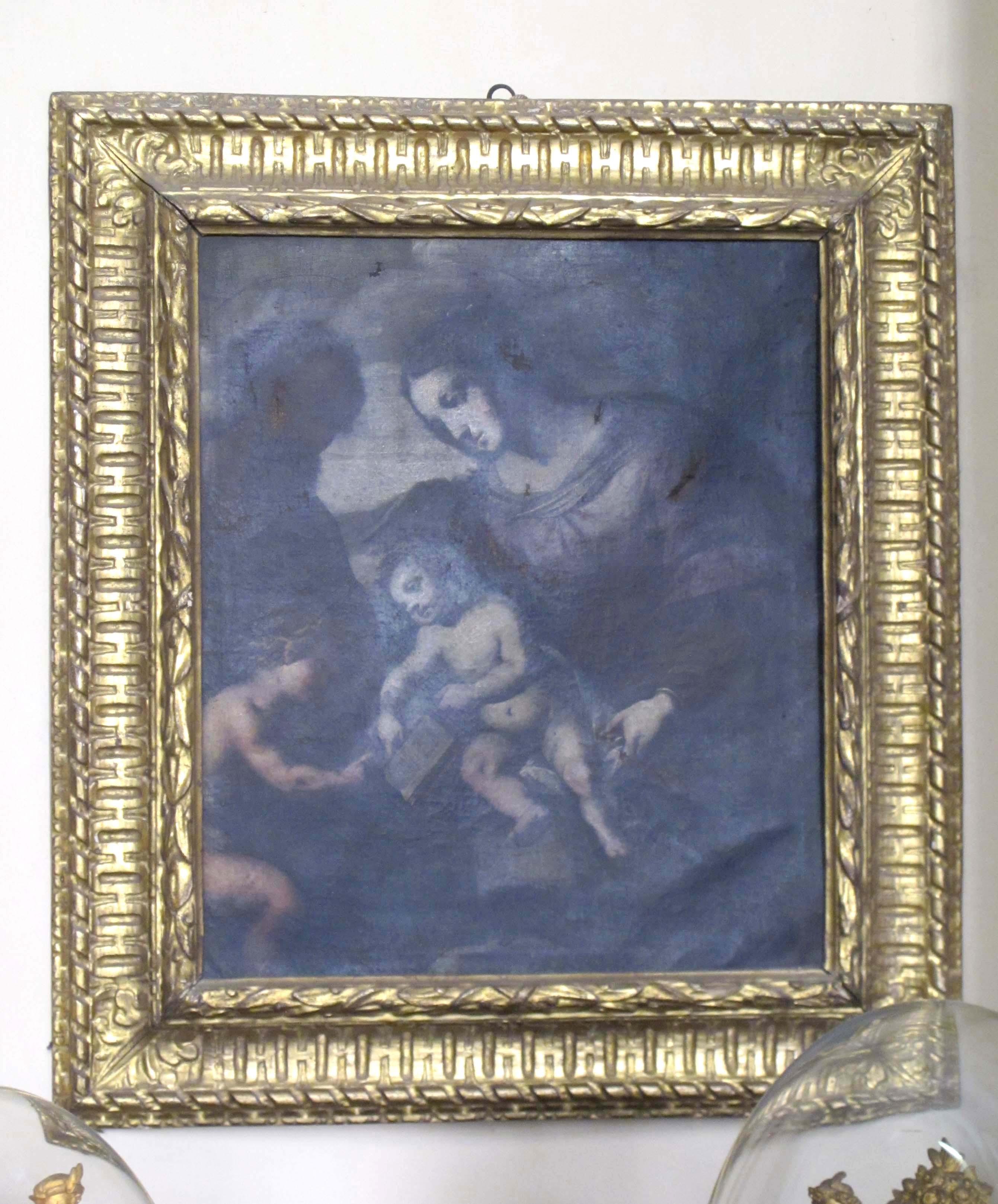 AUTORE IGNOTO, Sacra Famiglia con San Giovannino (seconda metà del sec. XVII)