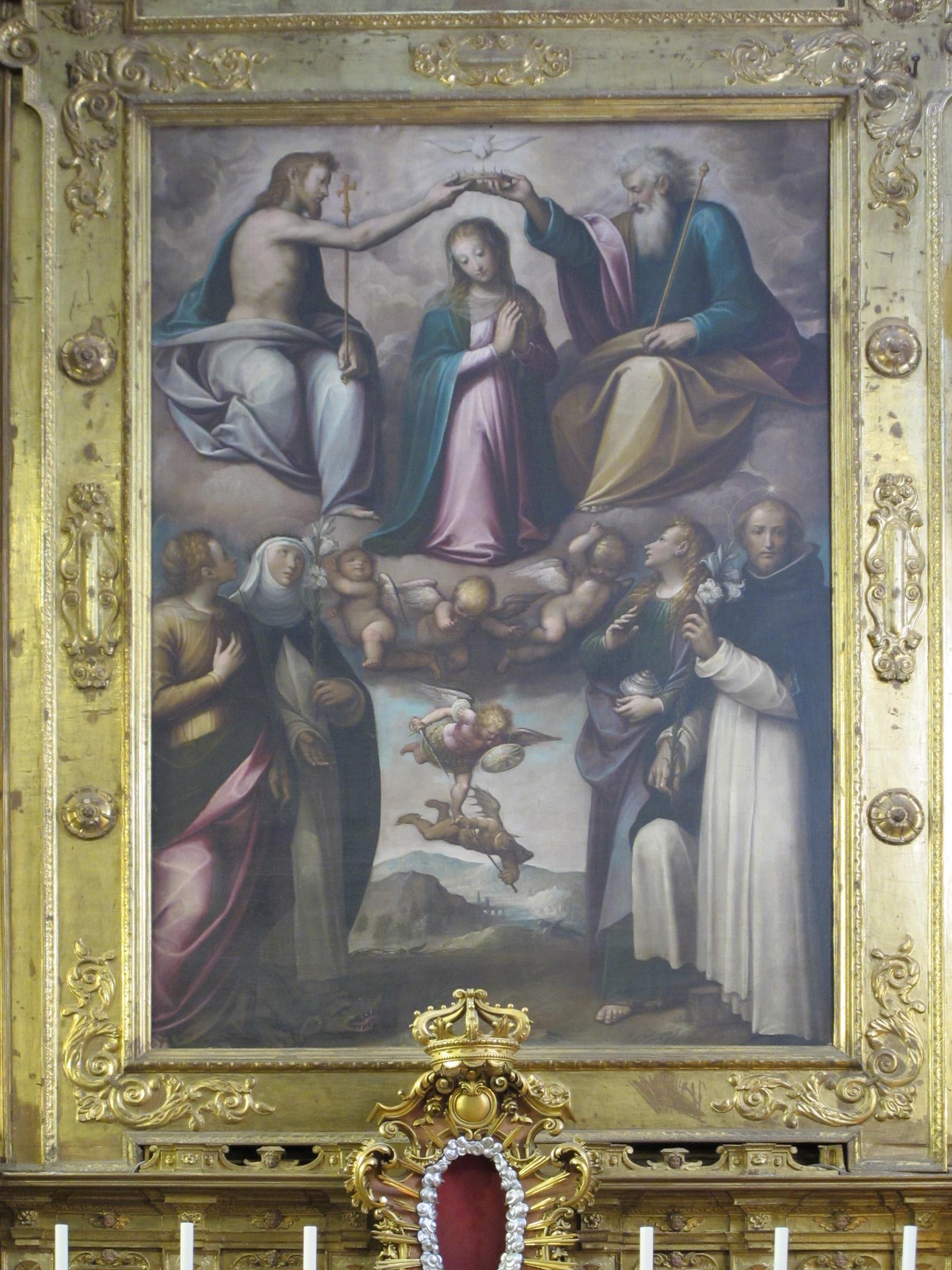 Il Moncalvo. Incoronazione della Vergine e Santi
