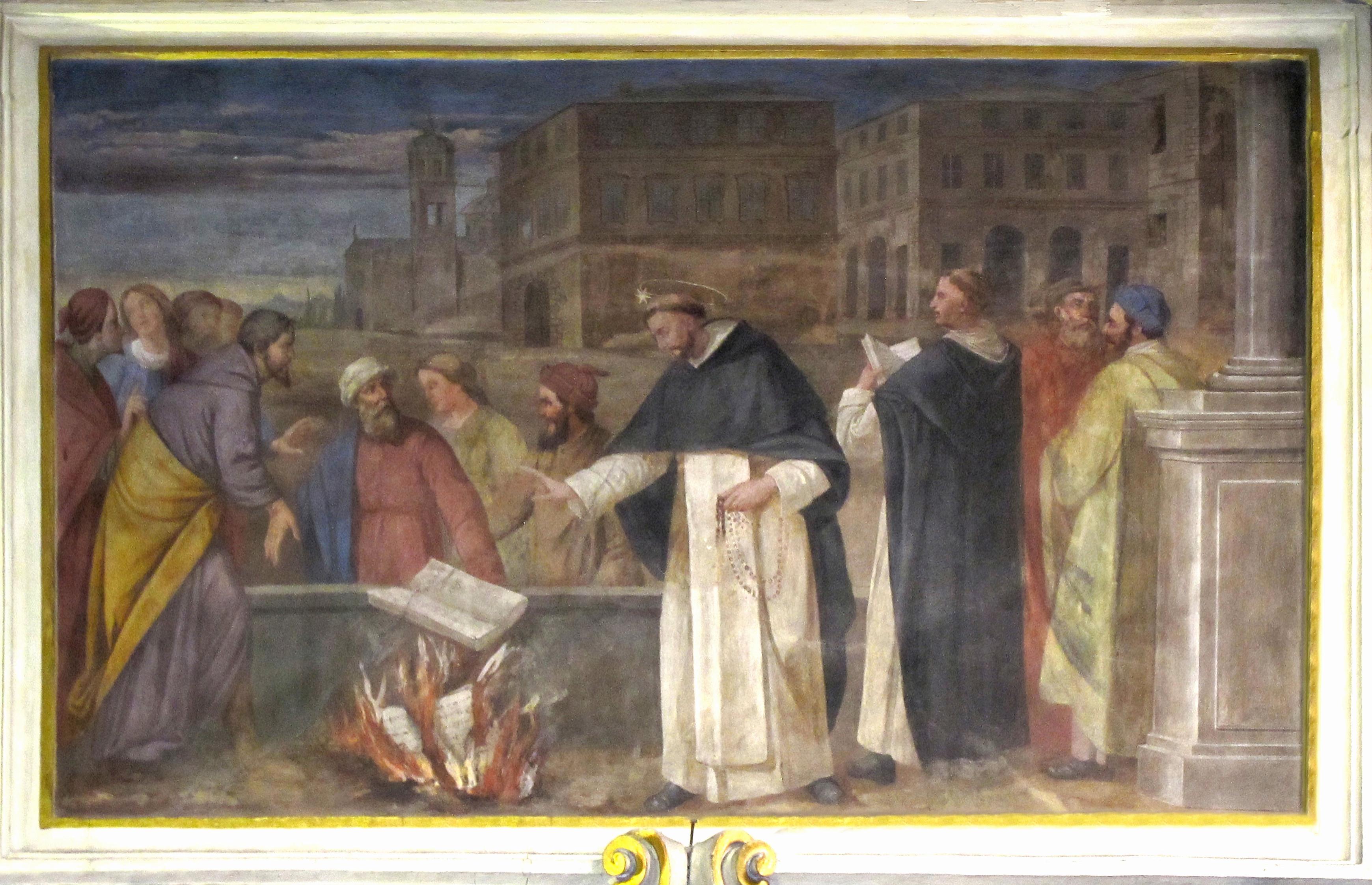 Scuola di Guglielmo Caccia (il Moncalvo), Il miracolo del libro (1615 ca.).